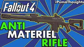 Fallout 4 Creation Club Weapons - Anti Materiel Rifle Analysis Review Survival PumaThoughts