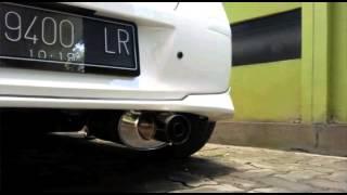Toyota Yaris pakai FUJITSUBO Replika dengan DBKiller ( suara knalpot exhaust muffler sound )