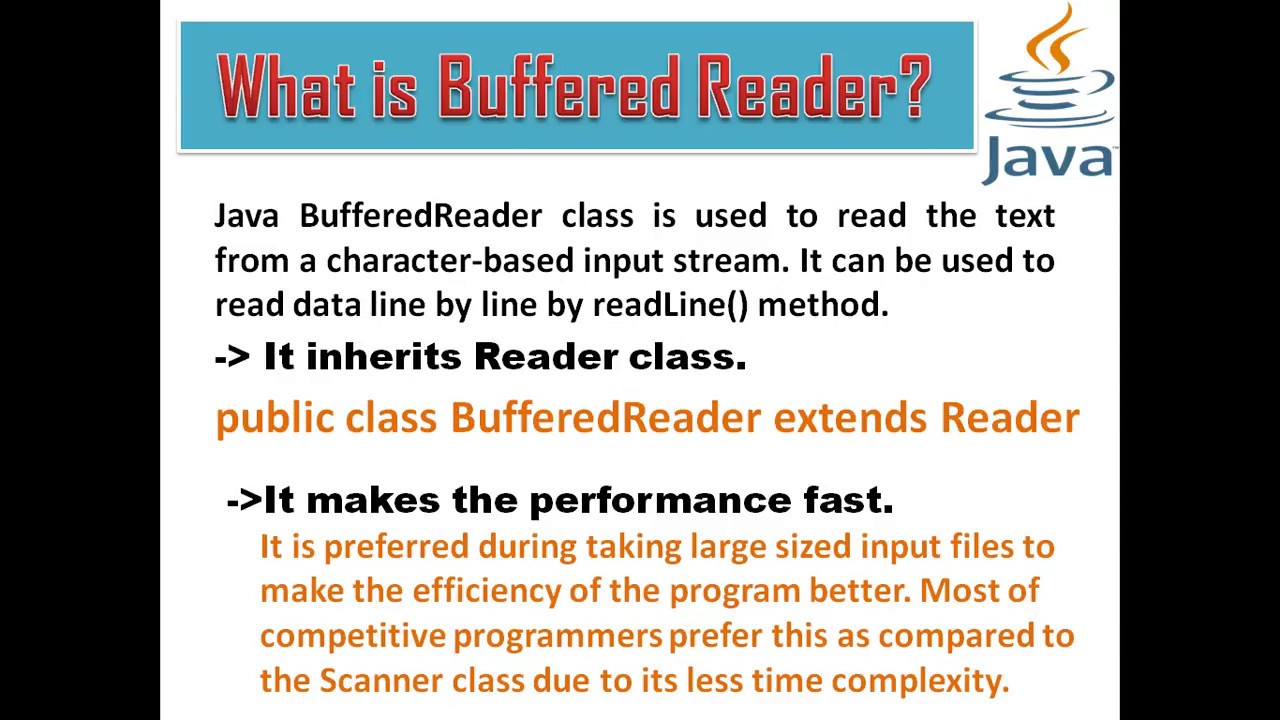 Buffered Reader in Detail