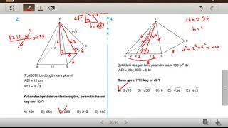 PİRAMİT 1 (Acil Geometri Soru Bankası 2)