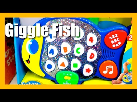 Bright Starts Learn and Giggle Fish Lights Baby Learning Toy - Popular Musical Baby Toys