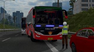 ETS2 - po. citra dewi pariwisata KENA TILANG di tol dalam kota