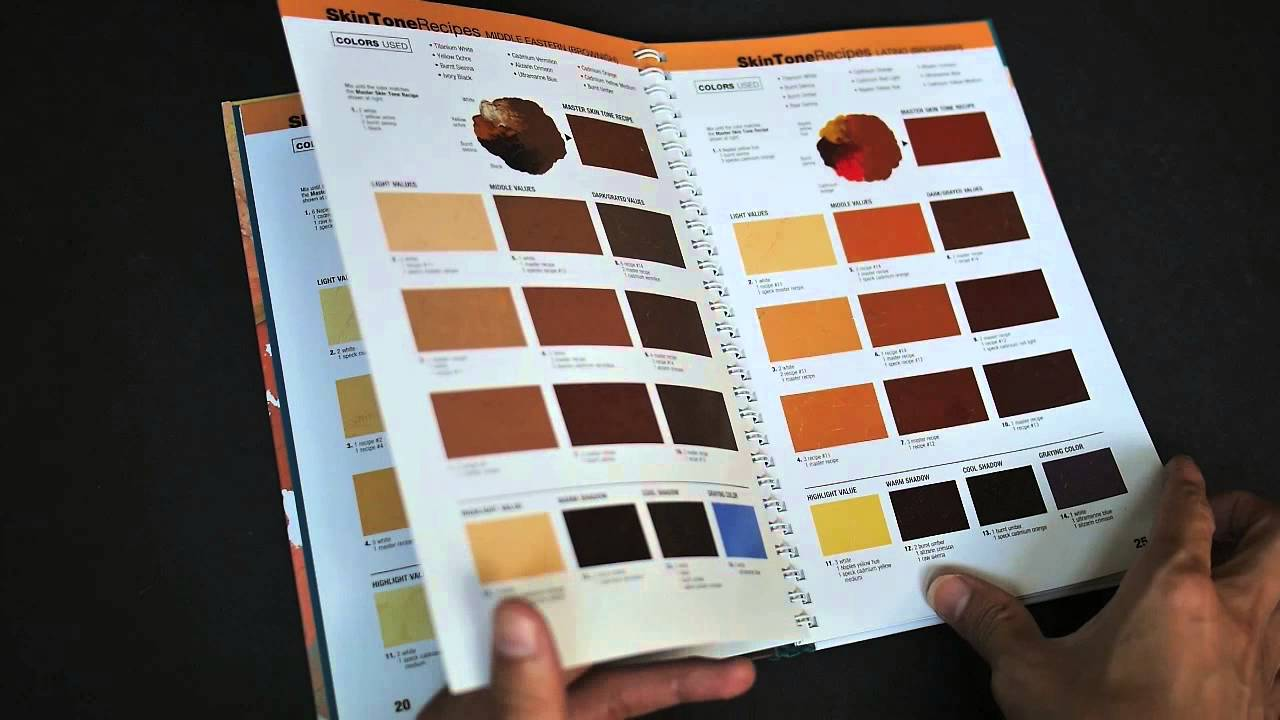 color mixing recipes for portraits more than 500 color combinations for skin eyes lips hair youtube - Hair Color Book