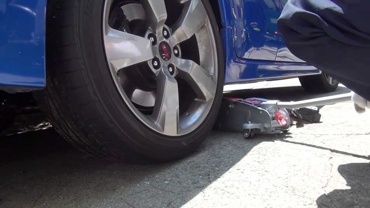 how to put sti on jack stands