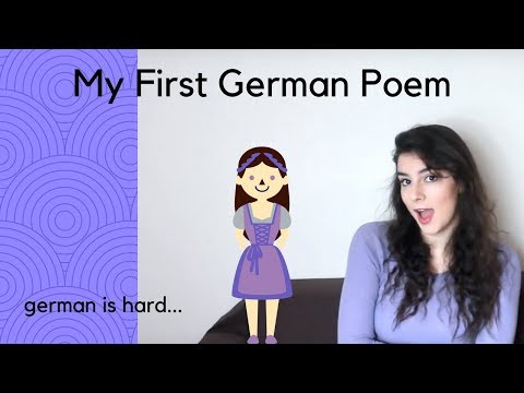 My First Time Writing a German Poem
