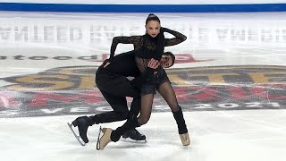 Аннабель Морозова Андрей Багин Ритм танец Лас Вегас Гран при по фигурному катанию 2021 22