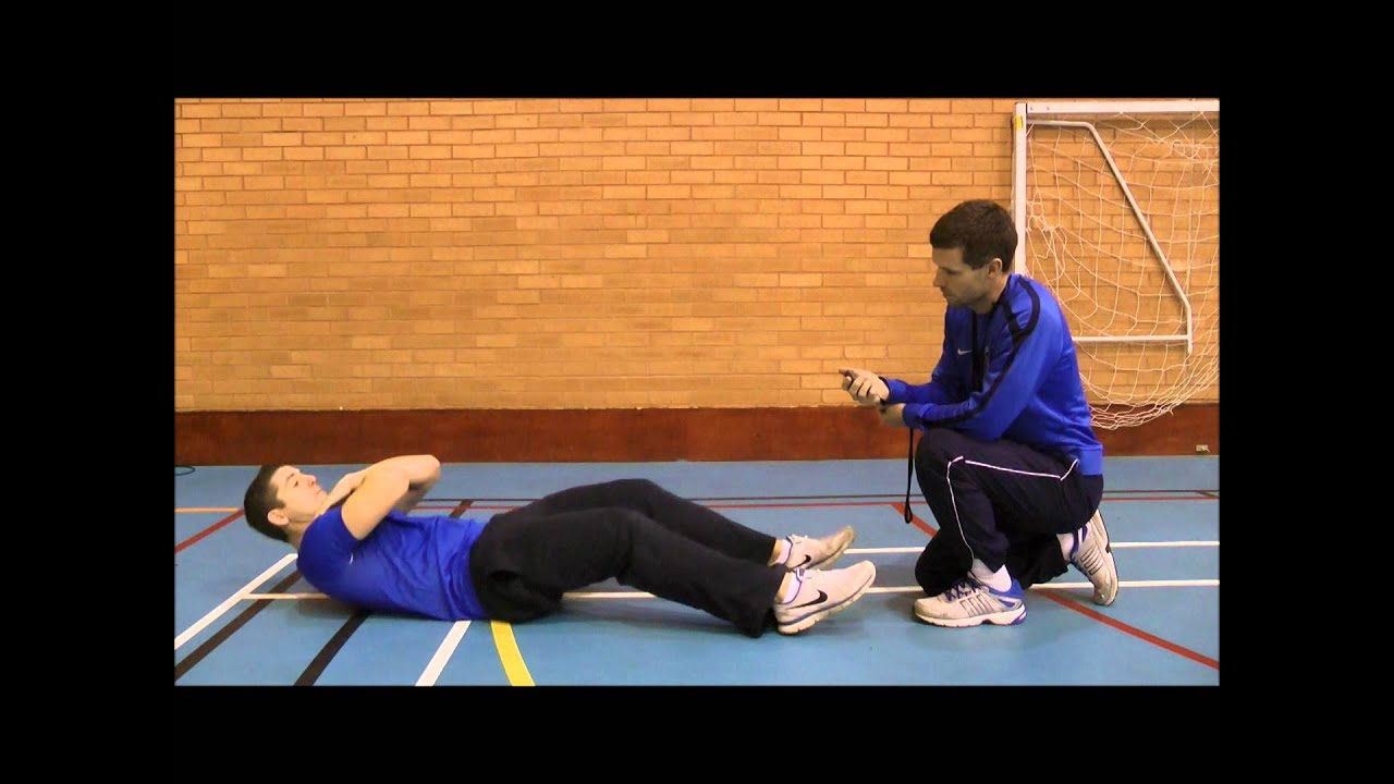 One minute sit up test - YouTube