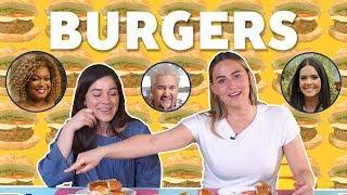 Tasting FN Stars&#39 Burger Recipes TASTE TEST!  Taste Test  Food Network