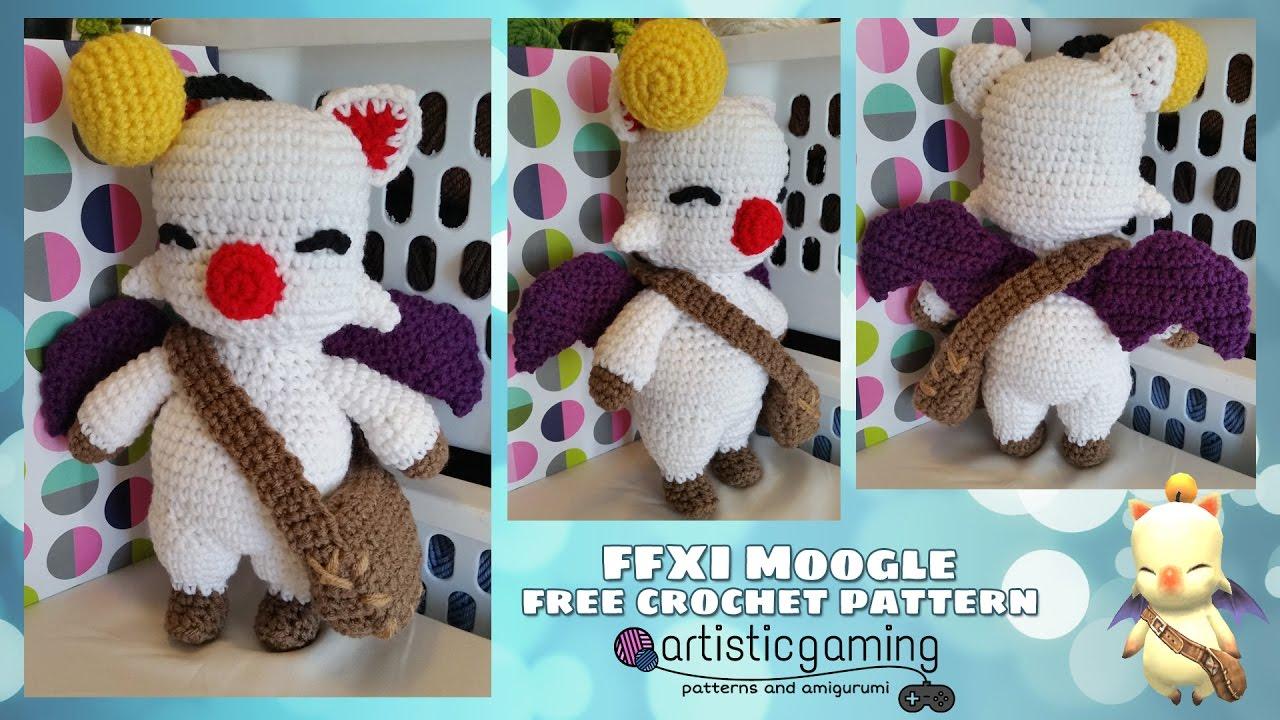 Amigurumi Vivi Free Patterns : Make your own final fantasy 11 moogle! free crochet pattern youtube