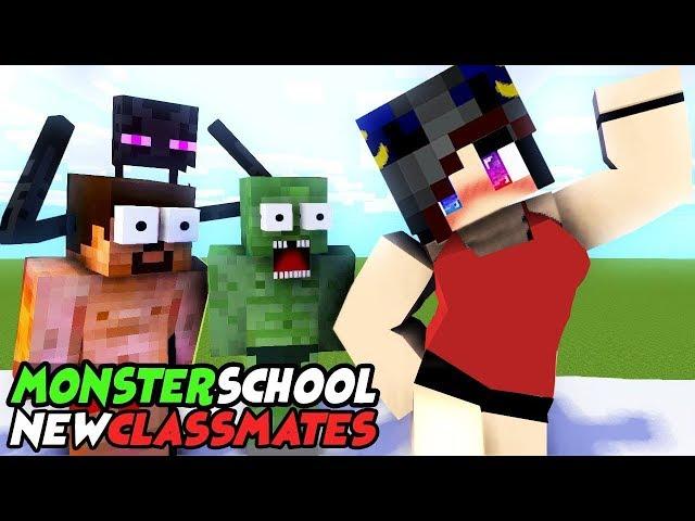 MONSTER SCHOOL : NEW CLASSMATES - SWIMMING CHALLENGE