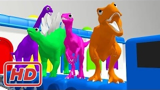 Lernen Farben mit Dinosaurier-Zug | Dinosaurier-Farben für Kinder | Farben lernen Videos für Kinder