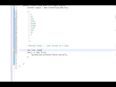 Beginners Java, Lesson 10, Nested loops