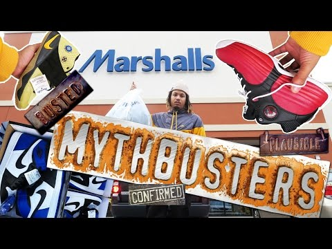 LIMITED SNEAKERS AT MARSHALLS EXPOSED ?!?! MYTHBUSTERS !!!