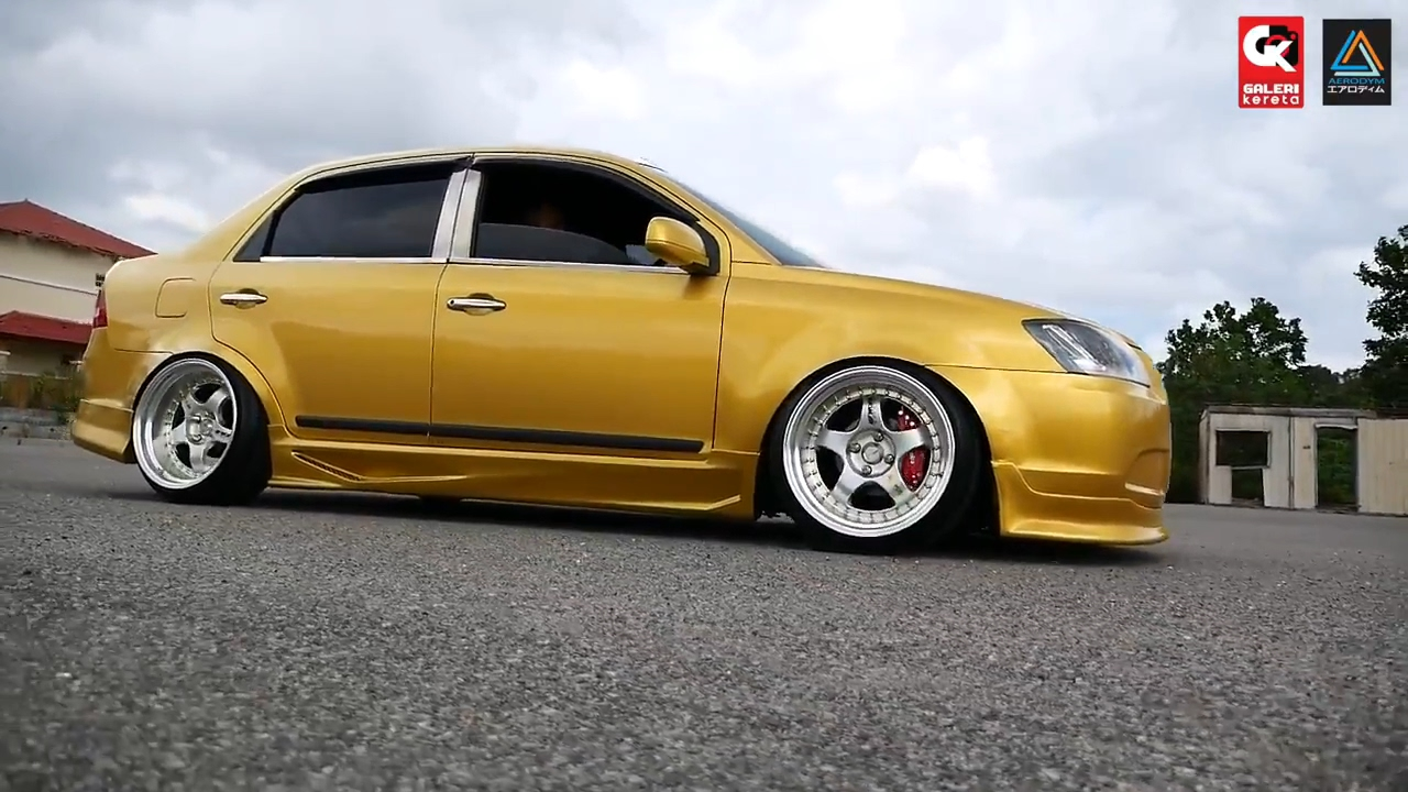 Proton Saga BLM Gold Paint Colour - Koi Stance - YouTube