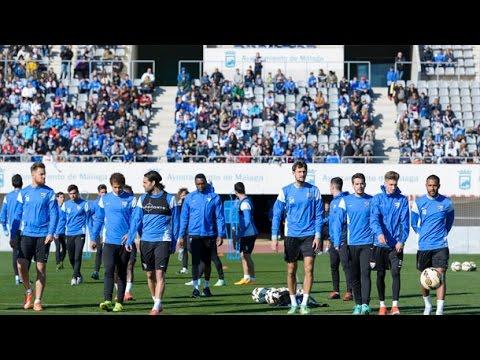 Un millar de aficionados en la sesión de recuperación del Málaga CF