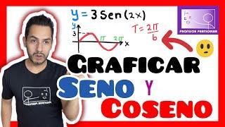 Gráficas de funciones Trigonométricas seno y coseno   Trigonometría thumbnail