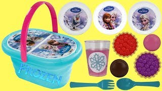 Disney Frozen 2 Lunch Basket Kitchen Playset with OLAF Princess Anna amp Elsa Play-doh