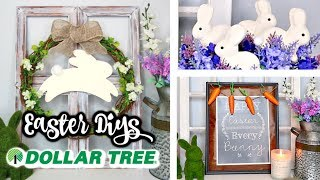 DOLLAR TREE DIYS | EASTER & SPRING FARMHOUSE DECOR | 3 EASY IDEAS