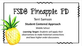"""Student Centered Approach"" Strategy"