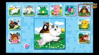 Мультики Веселые пазлы Пазлы сказки и животные  Мультфильмы для детей