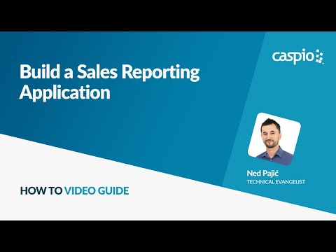 build a sales reporting application youtube