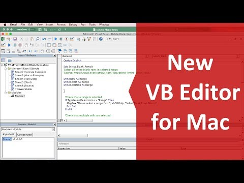 Excel animation visual basic editor shortcut to open in