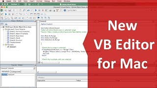 Visual Basic Editor (VBA) Updates for Excel for Mac 2016