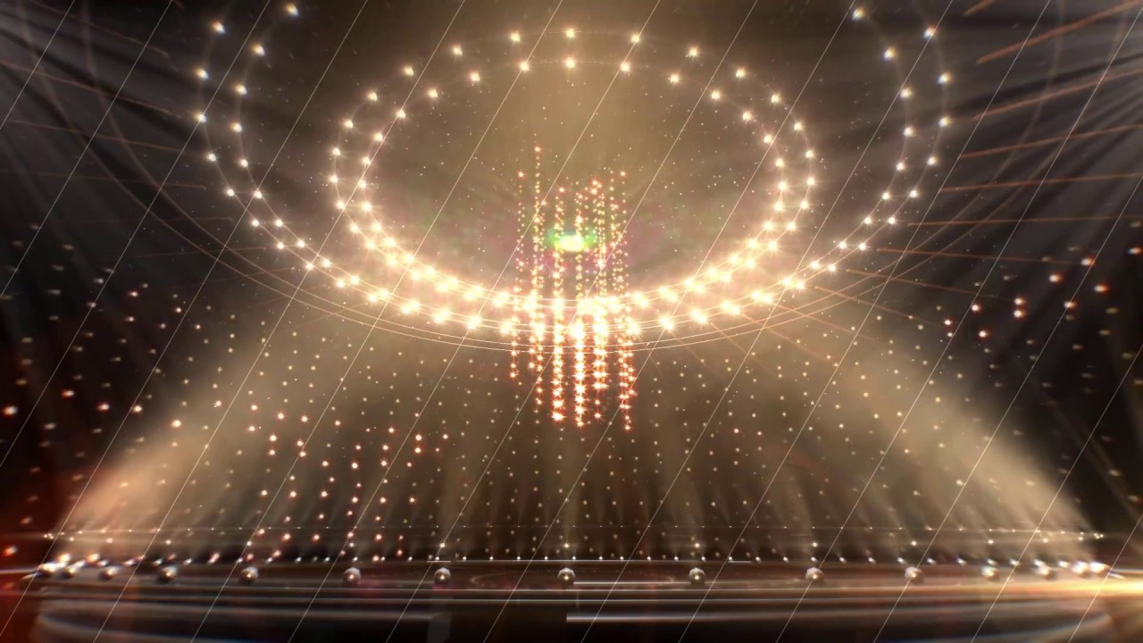 golden revolving light stage video background   high