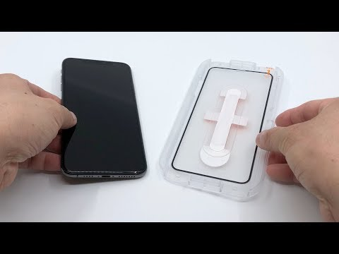 Installing Spigen GLAS TR EZ Fit Premium 9H Tempered Glass Screen Protector On IPhone XS Max【4K】