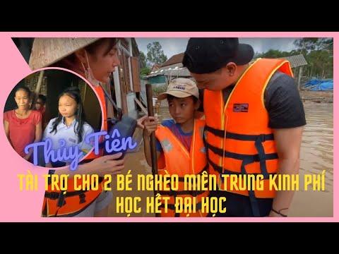 Thuỷ Tiên tài trợ cho 2 bé nghèo miền trung kinh phí học hết đại học