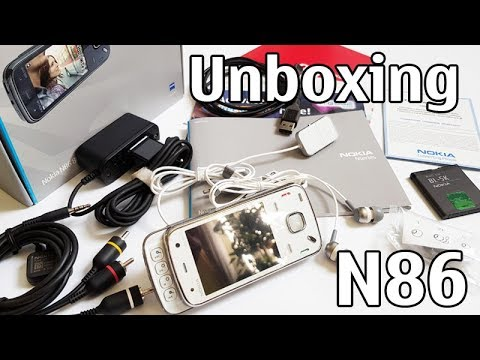 Nokia N86 8MP Unboxing 4K with all original accessories Nseries RM-484 review
