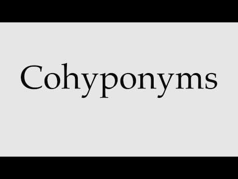 How to Pronounce Cohyponyms