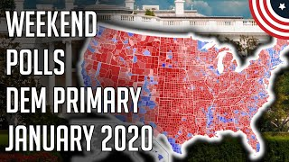 3 New 2020 Democratic Primary Polls - Biden and Bernie Remain 1 & 2 - January 2020 Follow me on Twitter: twitter.com/PoliticFor ecast  3 New 2020 Democratic Primary Polls - Biden and Bernie Remain 1 & 2 - January 2020 - Democratic ..., From YouTubeVideos