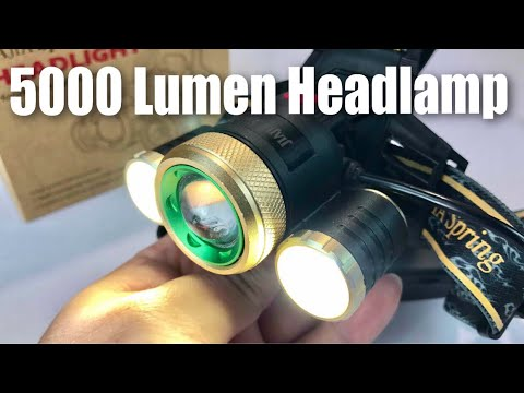 Super Bright 5000 Lumen LED Headlamp Headlight Flashlight by JIAJIA Spring review
