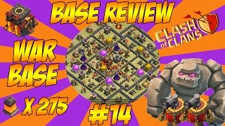 TH10 WAR BASE 275 WALLS - Base Review - Clash Of Clans