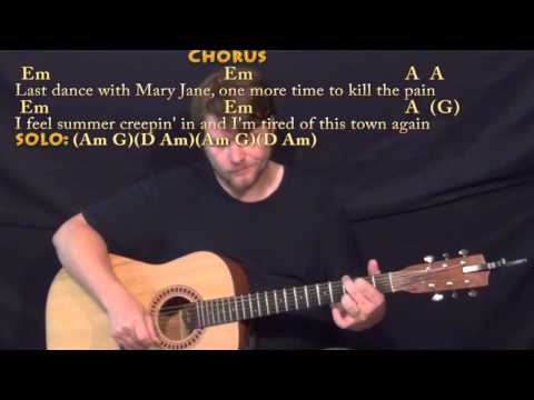 Mary Jane's Last Dance (Tom Petty) 16th Strum Guitar Cover Lesson with Chords/Lyrics