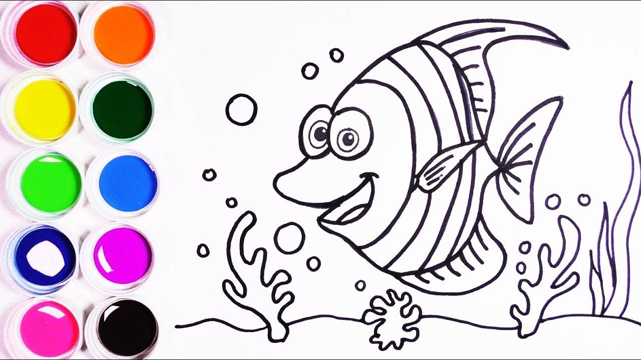 Cómo Dibujar y Colorear un Pez de Arco Iris - Arte y Color Para ...