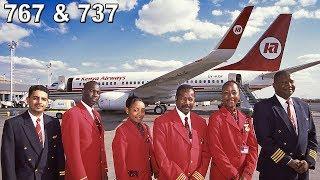 KENYA AIRWAYS 767-300 & 737-700