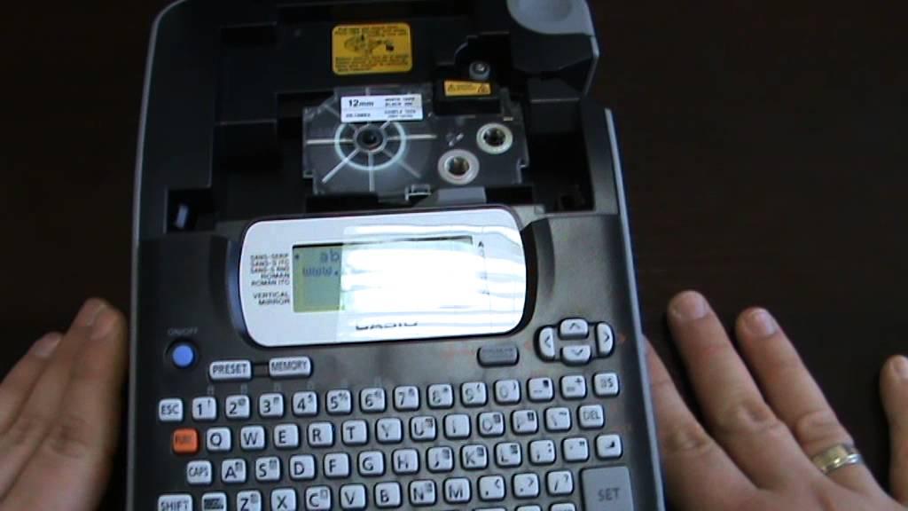 casio label printer kl 820