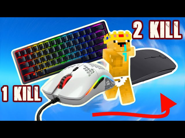 Minecraft, But every kill I switch my mouse