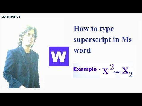 X Square In Word | How To Type Superscript In Word | How To Write Superscript In Word