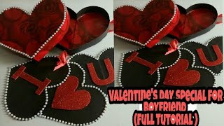 Valentine's Day Special(Tutorial) I Love You Box CARD|| Heart shape BOX Card