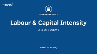 Labour and Capital Intensity