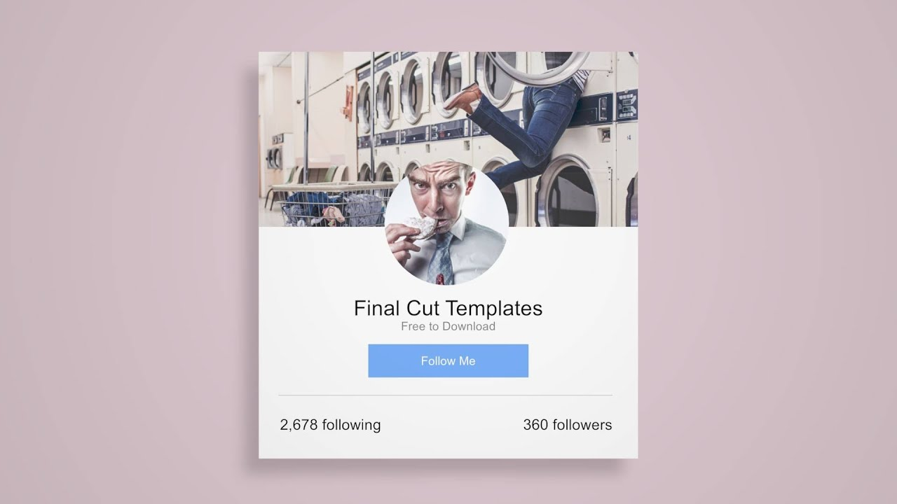 social package free apple final cut motion template youtube