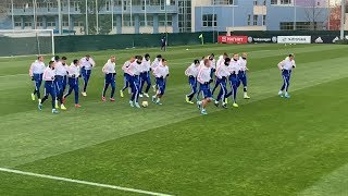 В Москве прошла открытая тренировка сборной России по футболу