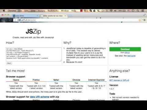 JSZip Jump Start