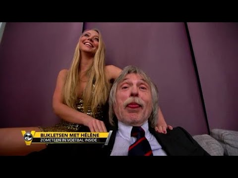Walk-on-girl Ashley Zaat geeft massage aan Johan Derksen - VOETBAL INSIDE