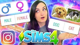MY INSTAGRAM FOLLOWERS CONTROL MY SIM | Sims 4 Challenge (Pet, Career & First Love)