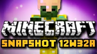Minecraft 12w32a Snapshot - ARMORED MOBS, NIGHT VISION, & MORE! (HD)