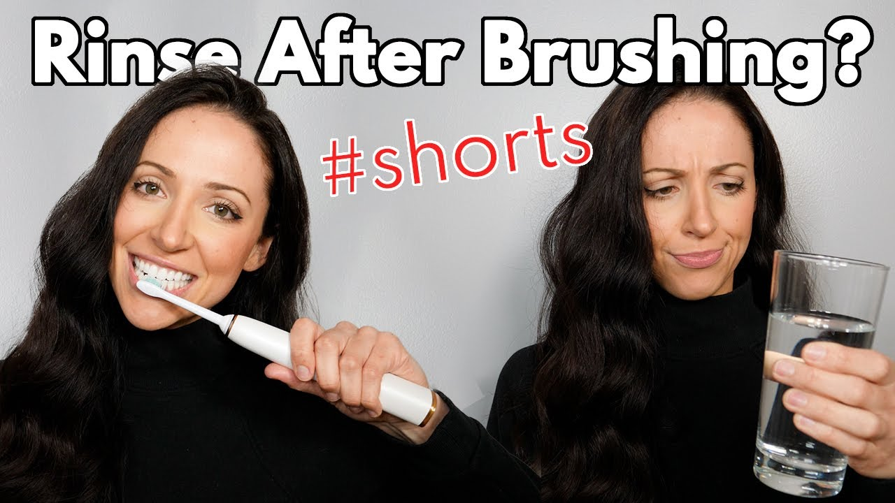 Should You Rinse After Brushing Your Teeth? #shorts